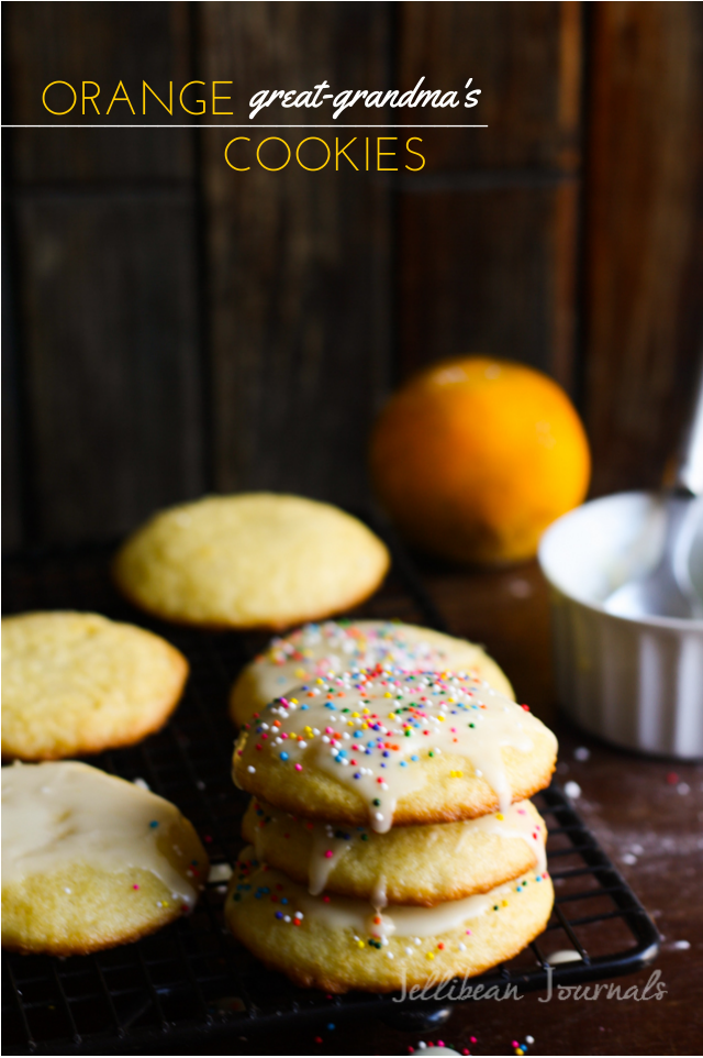 Soft Orange Cookies- A family heritage recipe infused with fresh orange flavor. #cookies | Jellibean Journals