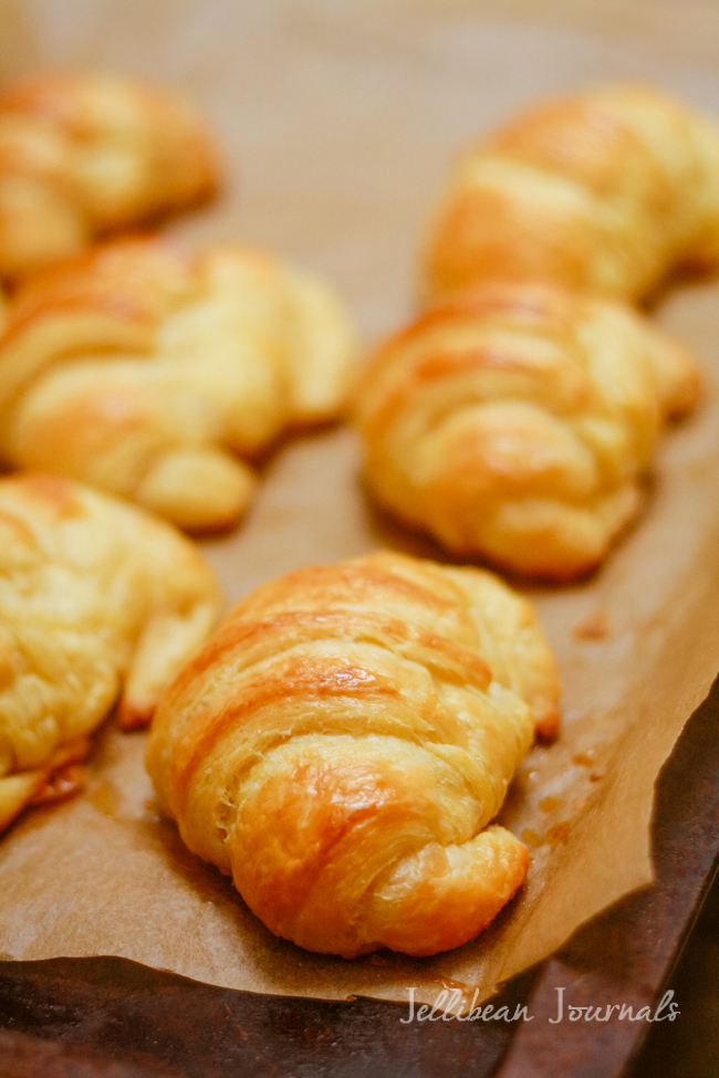 Homemade Croissants- make these bakery staples from scratch. It's much easier than you'd think! | Jellibeanjournals.com