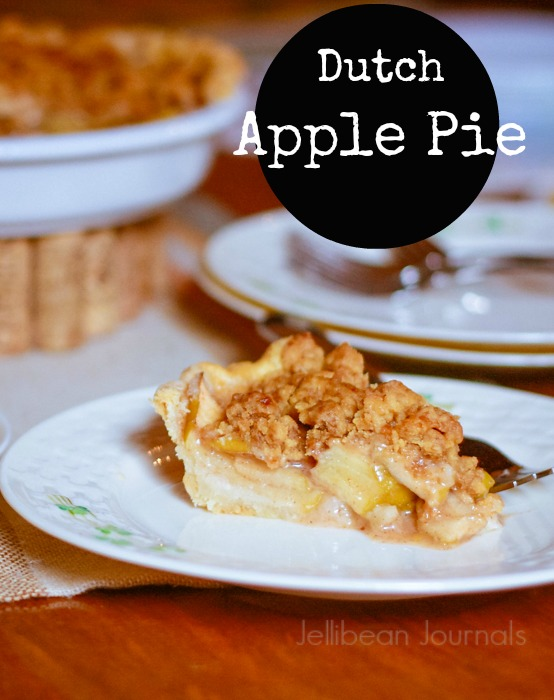 Dutch Apple Pie with Buttery Brown Sugar Streusel--> YUM!! | JellibeanJournals.com