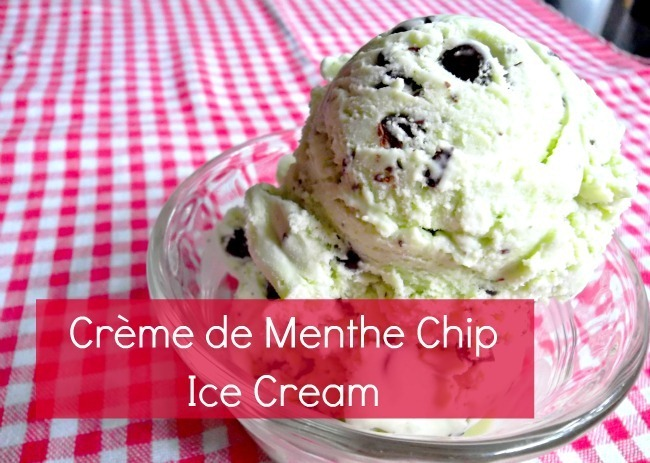 Creme de Menthe Chip Ice Cream