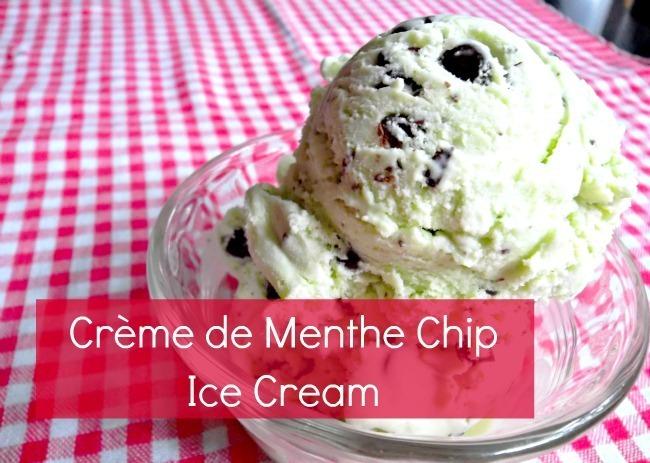 Creme de Menthe Chip Ice Cream