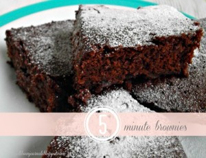 5 Minute Brownies- whip these together from scratch in 5 minutes flat! #brownies #chocolate from Jellibeanjournals.com