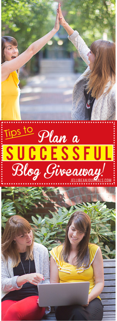Tips to plan the best blog giveaway ever! Jellibeanjournals.com