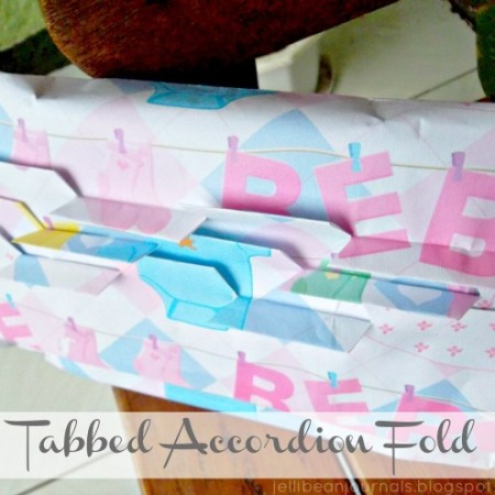 Tabbed Accordion Fold Gift Wrapping Guide from jellibean Journals