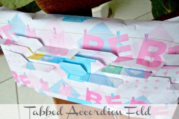 Primp my Present: Tabbed Accordion Fold