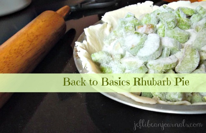 basic double crust rhubarb pie recipe