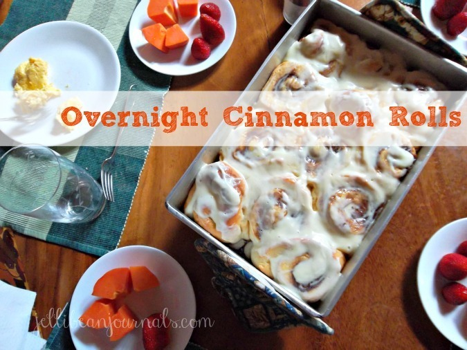 Overnight cinnamon rolls with maple cream cheese frosting | Jellibeanjournals.com