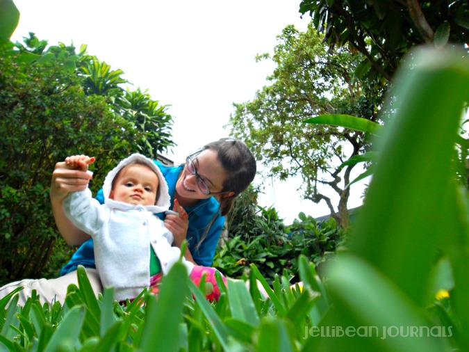 gardening with baby