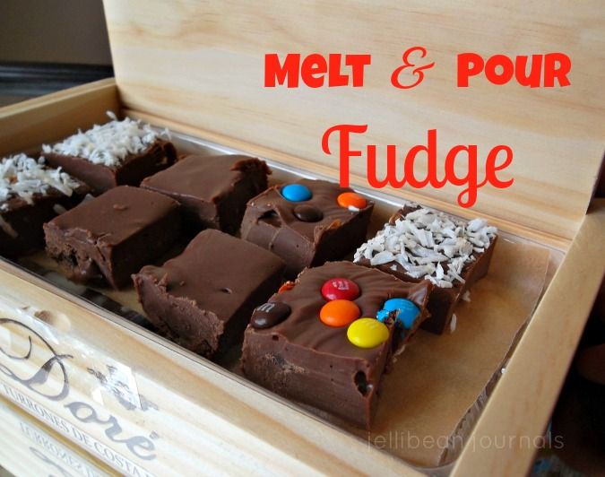 melt and pour  chocolate fudge | Jellibeanjournals.com