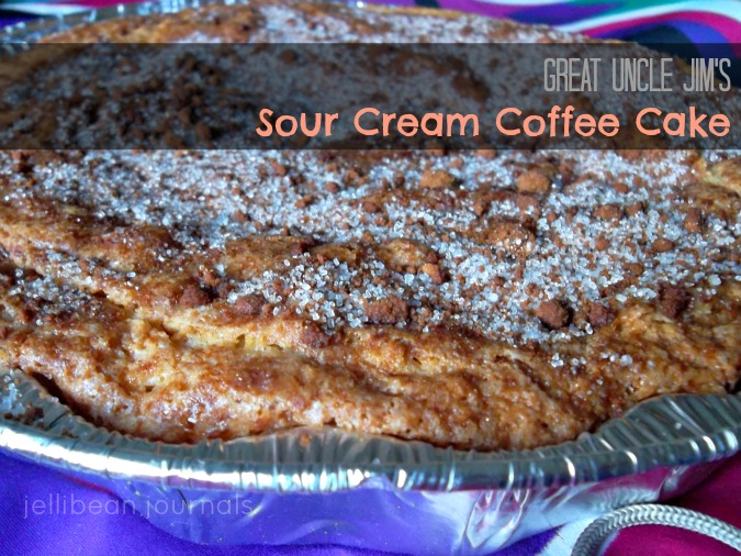 Sour Cream Coffee Cake Recipe - Jellibean Journals
