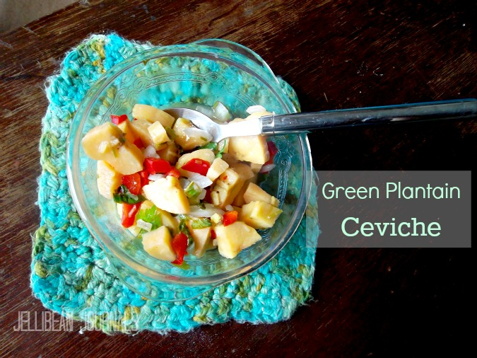 green plantain ceviche