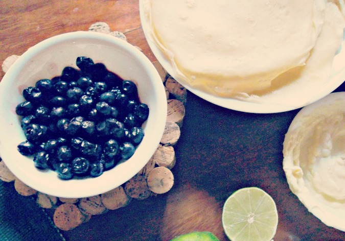 blueberry cheesecake crepes