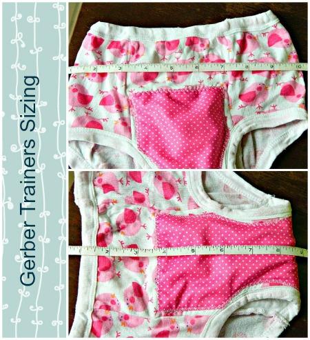 Gerber training pants measurements