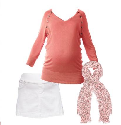 coral v-neck jumper seraphine maternity