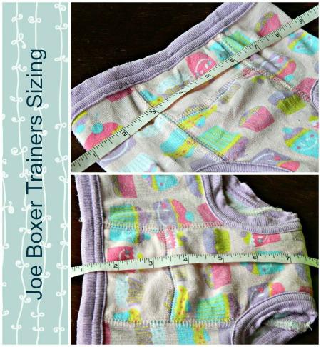 joe boxer training pants measurements