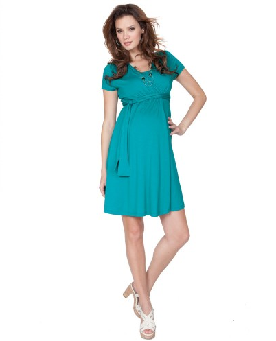 seraphine maternity mock layer dress