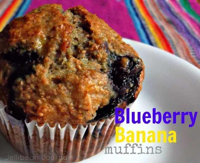 Healthy Blueberry Banana Muffins