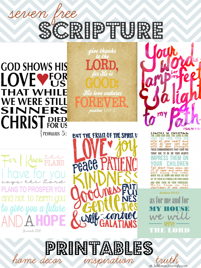 7 Free Scripture Printables | JellibeanJournals.com