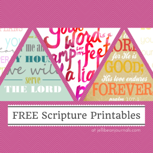 FREE Scripture Printables to decorate your home or office. #prinables #bible | Jellibean Journals