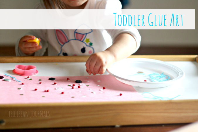 Toddler Glue Art Project from http://www.jellibeanjournals.com