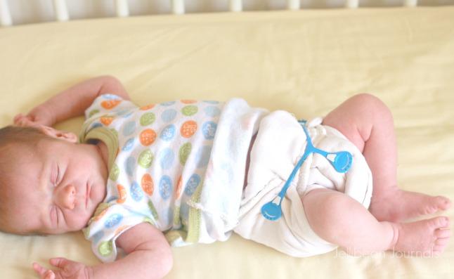 cloth diaper a newborn in infant prefolds