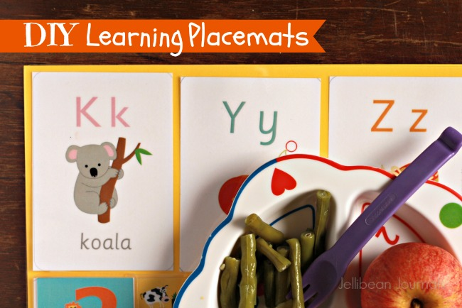 diy learning placemats