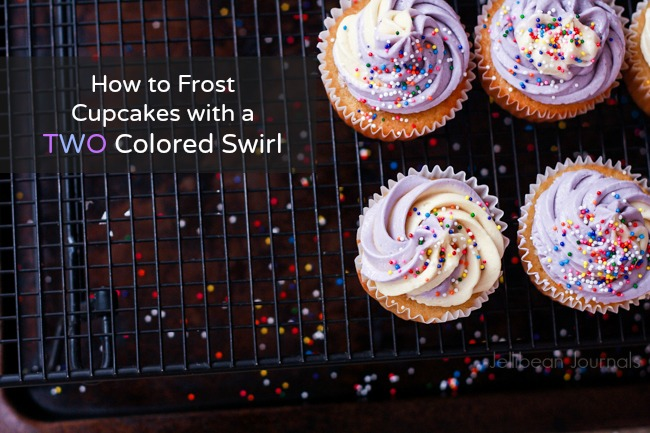How to Create Color Swirl Cupcake Frosting at Jellibeanjournals.com