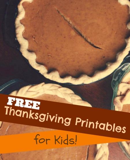 10 Free Thanksgiving Printables for Kids | JellibeanJournals.com