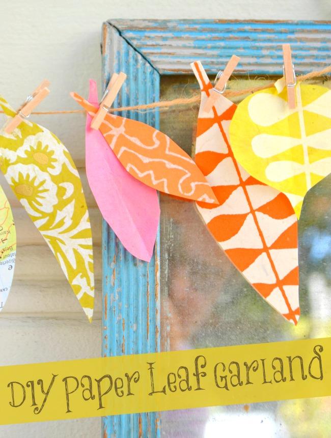 DIY Paper Leaf Garland | So Fawned