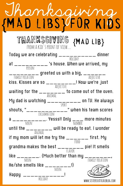 Free Thanksgiving Printables for Kids | JellibeanJournals.com