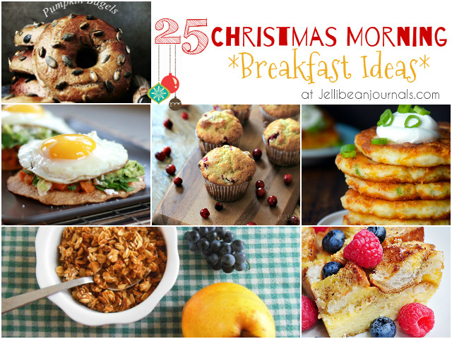 25 Christmas Morning Breakfast Ideas from Jellibean Journals #christmas #breakfast