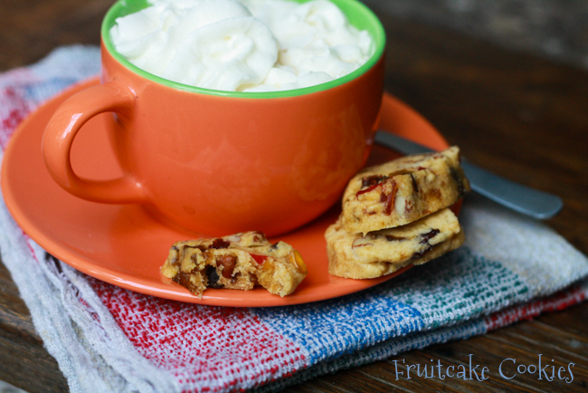 FRUITCAKE COOKIES- a delicious fruitcake experience. #christmas #cookies from Jellibean Journals