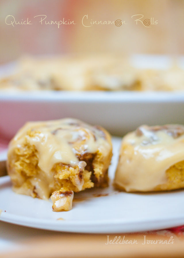 Quick Pumpkin Cinnamon Rolls perfect for weekend breakfasts from ...