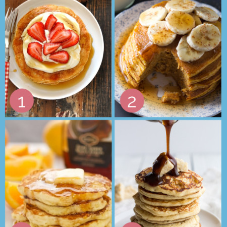 YUM-mazing Pancake Recipes! #breakfast #pancakes at Jellibean Journals
