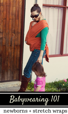 Babywearing 101: What's it like carrying a newborn in a wrap? #babywearing | JellibeanJournals.com
