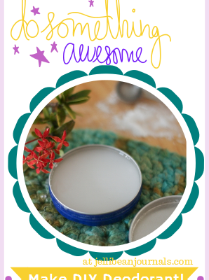 Natural Deodorant DIY- two ingredients to smelling shower-fresh all day long! #naturalliving #skincare | Jellibean Journals