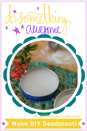 Natural Homemade Deodorant- two ingredients to smelling shower-fresh all day long! #naturalliving #skincare | Jellibean Journals