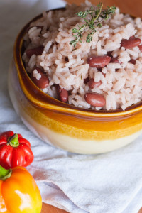 Caribbean Rice and Beans Costa Rican-Style #sidedish | JellibeanJournals.com
