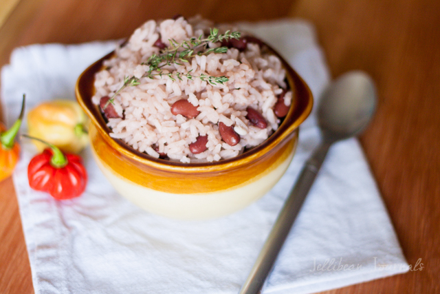 Costa Rican Rice and Beans- Coconut-infused Caribbean-style rice and beans   JellibeanJournals.com