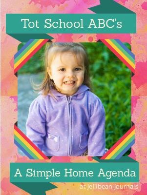 Simple Tot School Agenda to teach ABC's #totschool #alphabet| Jellibean Journals
