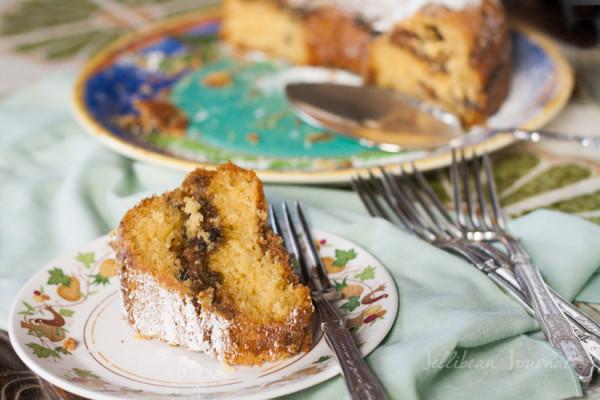 Fig Walnut Streusel Coffee Cake