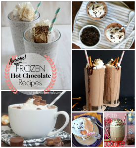 Delicous Spins on Frozen Hot Chocolate #hotchocolate #frozenhotchocolate #recipes at JellibeanJournals.com