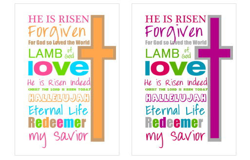 Free christian easter printables jellibean journals free christian easter printables printable easter jellibeanjournals negle Choice Image
