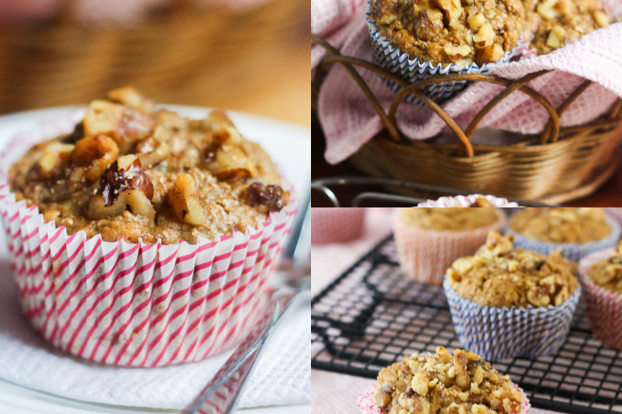 Wholesome Banana Nut Muffins
