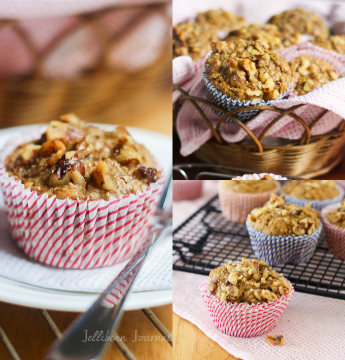 Wholesome Banana Nut Chia Muffins | Jellibeanjournals.com