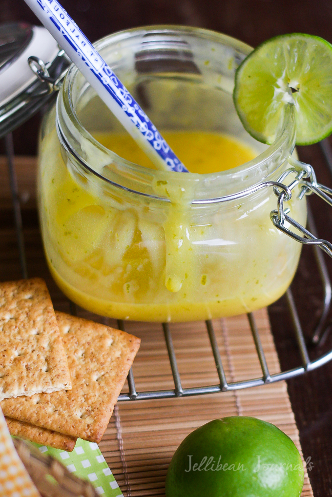 Key Lime Curd from Scratch at Jellibeanjournals.com