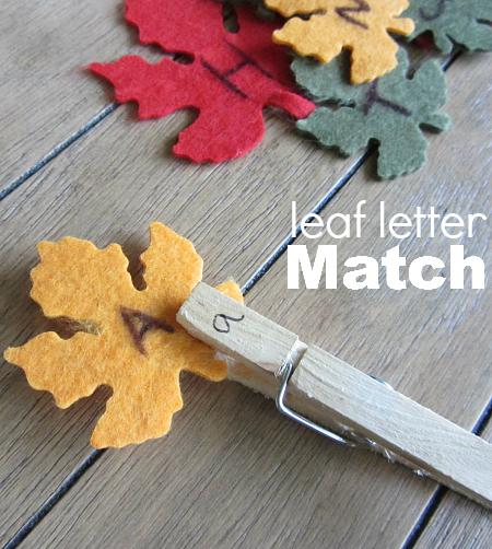 leaf match letter