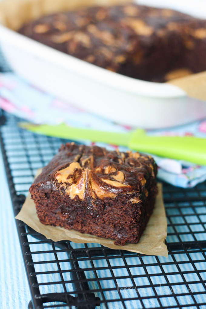 peanut butter avocado brownies-4