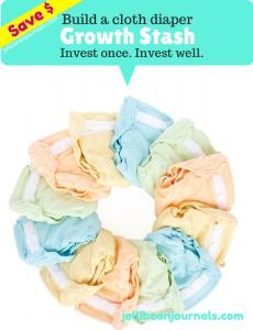 Save Money with a Cloth Diaper Growth Stash   Jellibeanjournals.com