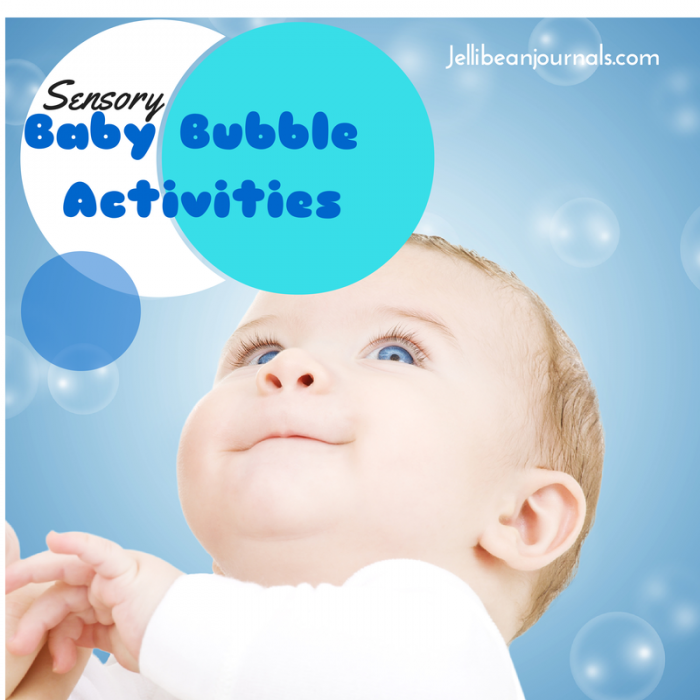 Sensory bubble activities are perfect for babies learning motor skills and exploring their world. -Jellibeanjournals.com